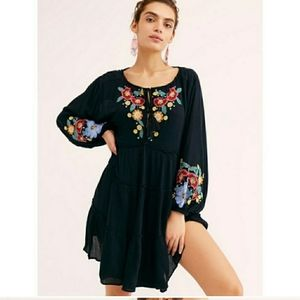 New Free People Spell On You Embroidered Mini
